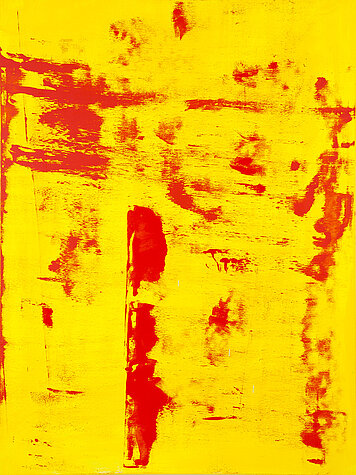 Symphony yellow/red - Oil on canvas, 120 x 160 cm