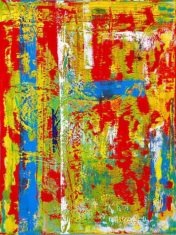 Gloria Composita 1 – Óleo sobre lienzo, 120 x 160 cm