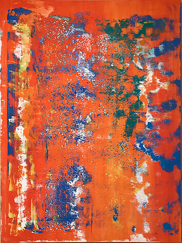 Orange Composita 2 – Oil on canvas, 120 x 160 cm