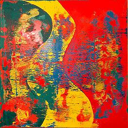 Circulum 3 - 布面油画, 100 x 100 cm