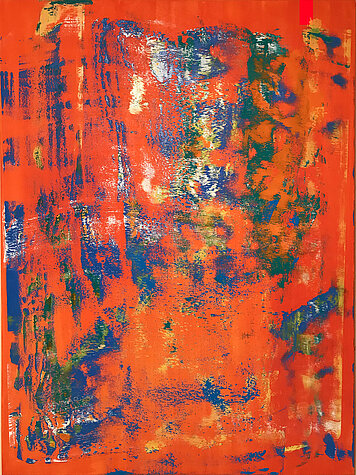 Orange Composita 1 – Oil on canvas, 120 x 160 cm